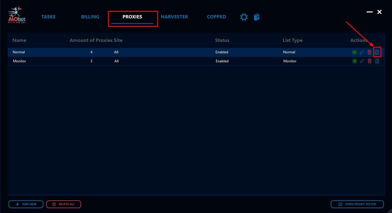 AIO V2] Testing Proxies – AIO Bot Help-center